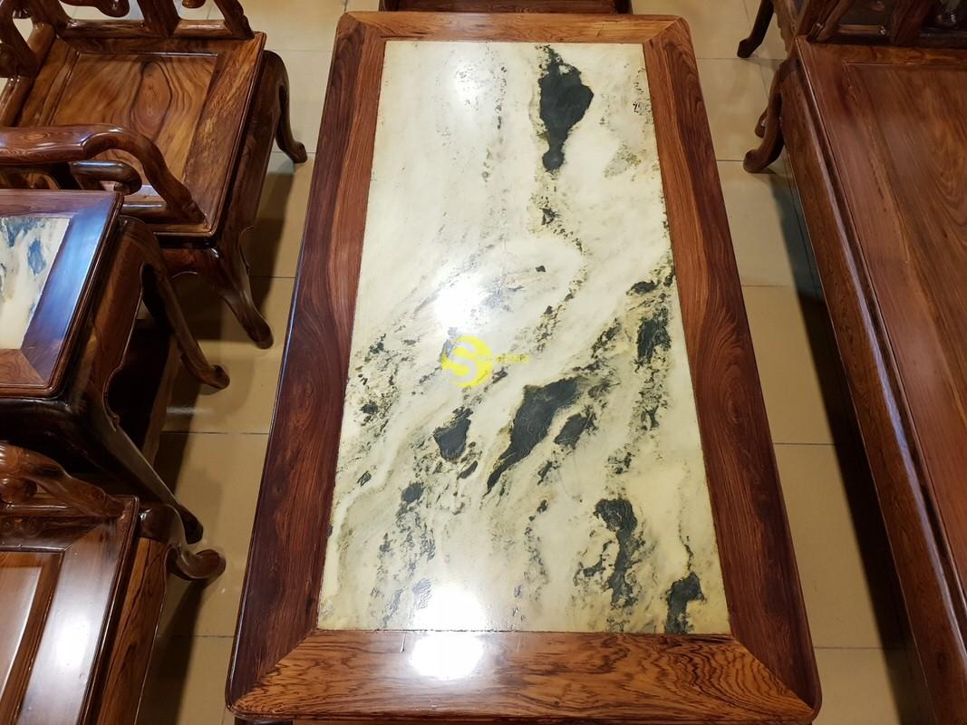 Bộ bàn ghế móc đá gỗ cẩm lai xịn 8 món – BBG412 (Ảnh 5)