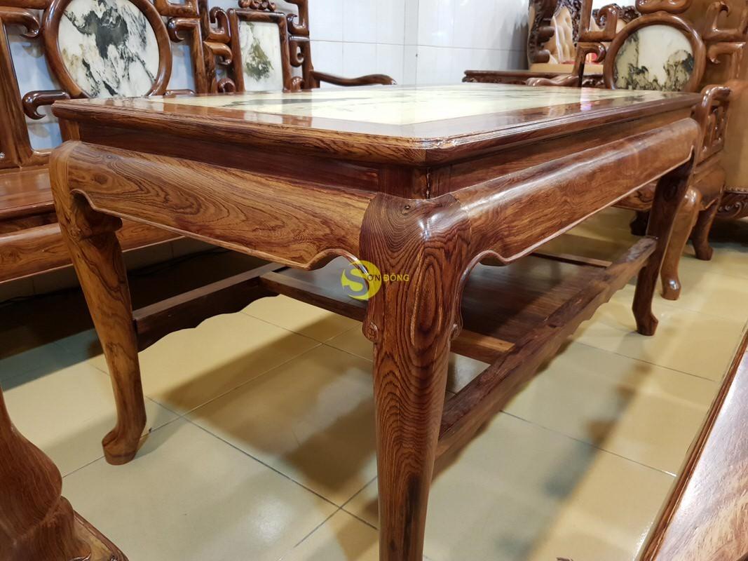Bộ bàn ghế móc đá gỗ cẩm lai xịn 8 món – BBG412 (Ảnh 9)