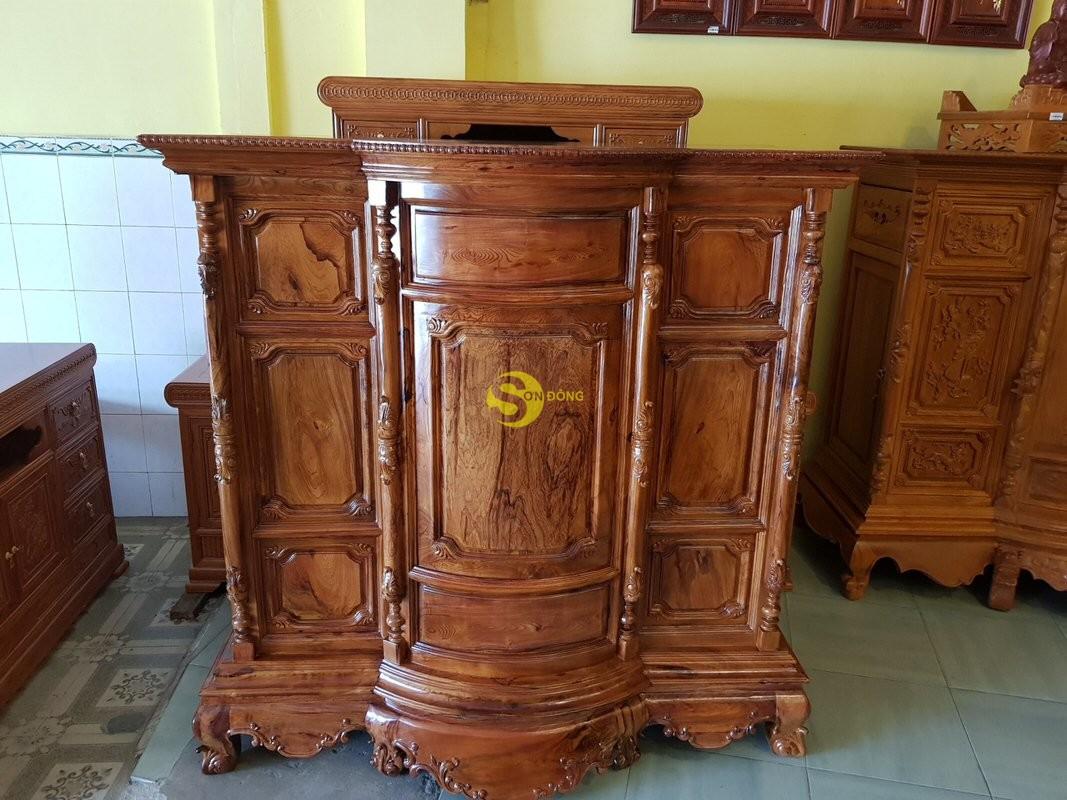Tủ thờ gỗ cẩm lai 1,53m tuyển chọn vân – SD48T (Ảnh 9)