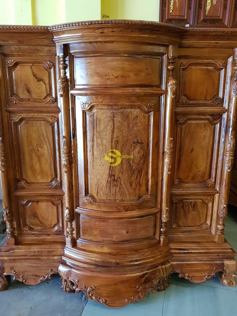 Tủ thờ gỗ cẩm lai 1,53m tuyển chọn vân – SD48T (Ảnh 7)