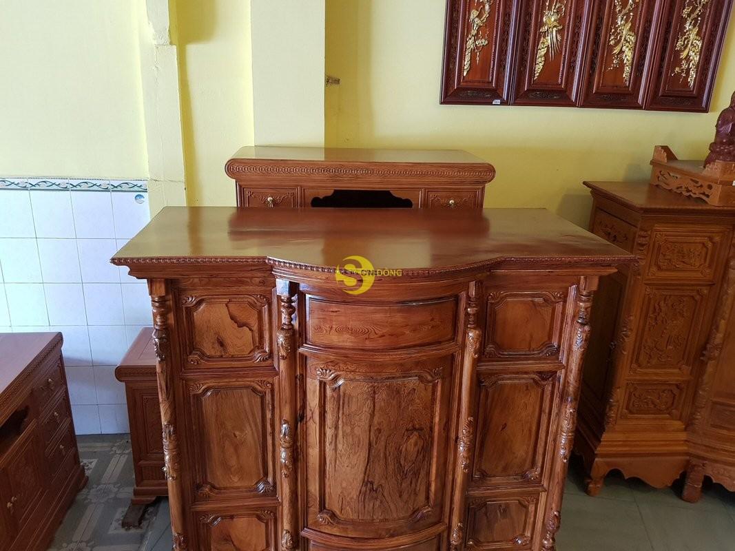 Tủ thờ gỗ cẩm lai 1,53m tuyển chọn vân – SD48T (Ảnh 5)