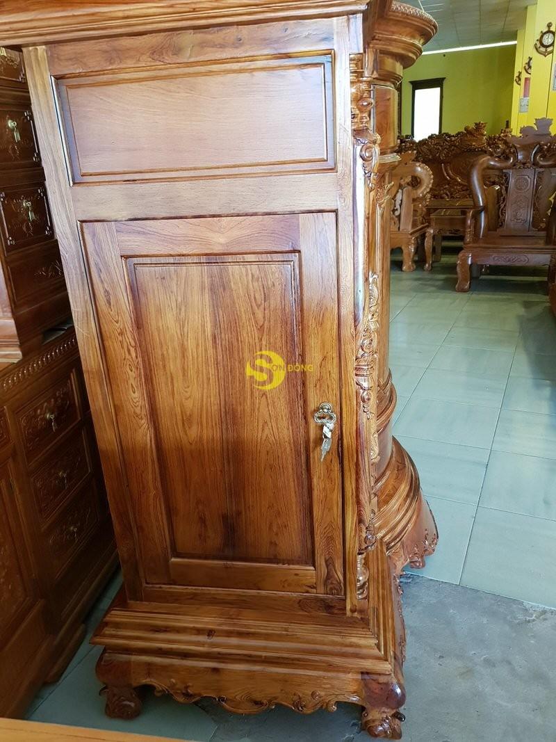 Tủ thờ gỗ cẩm lai 1,53m tuyển chọn vân – SD48T (Ảnh 4)
