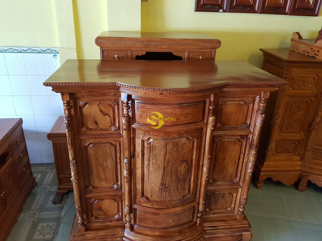 Tủ thờ gỗ cẩm lai 1,53m tuyển chọn vân – SD48T (Ảnh 3)