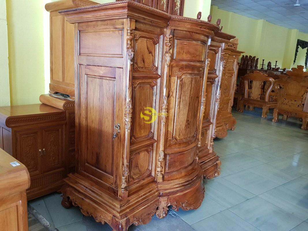 Tủ thờ gỗ cẩm lai 1,53m tuyển chọn vân – SD48T (Ảnh 2)