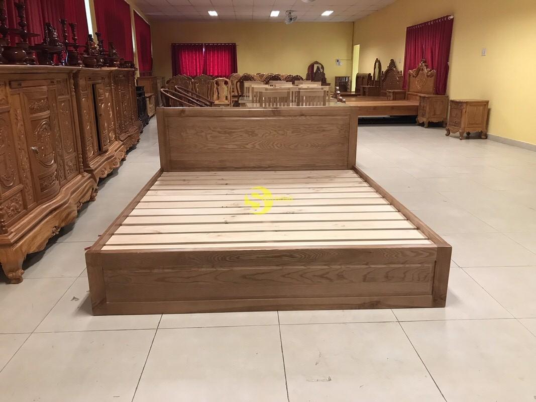 Giường ngủ gỗ sồi có hộc 1m8 – LCMGN15 (Ảnh 8)