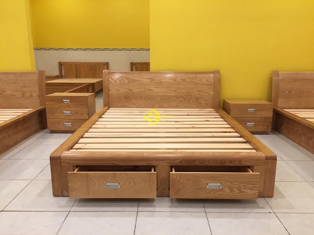 Giường ngủ gỗ sồi 1m6 – LCMGN05 (Ảnh 10)