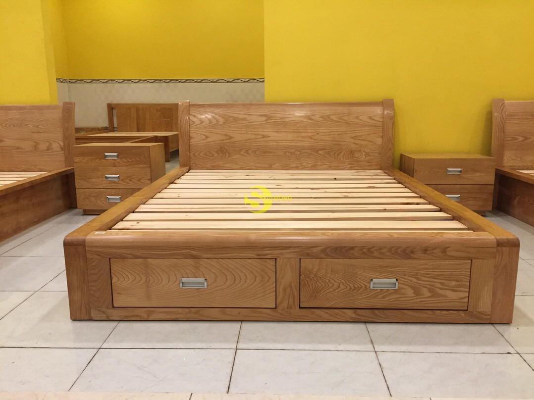Giường ngủ gỗ sồi 1m6 – LCMGN05 (Ảnh 9)