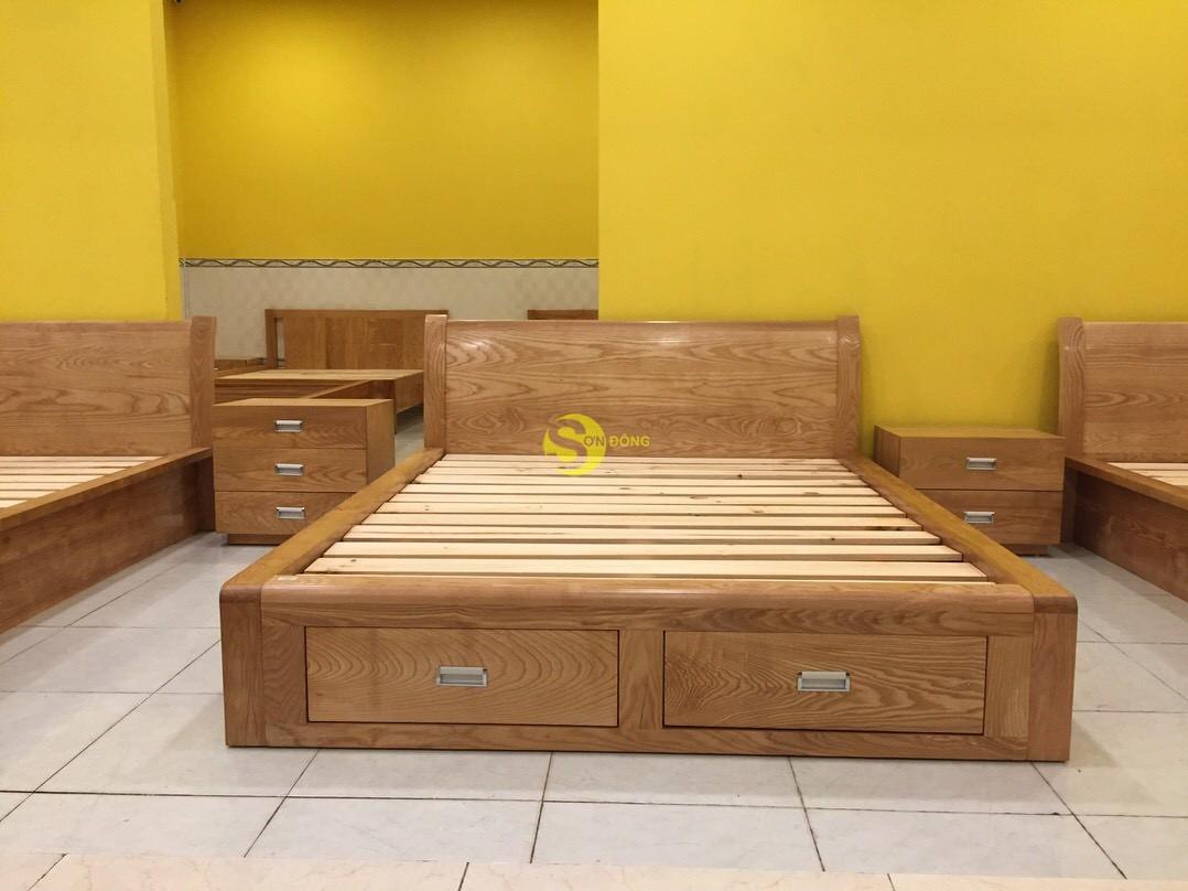 Giường ngủ gỗ sồi 1m6 – LCMGN05 (Ảnh 5)