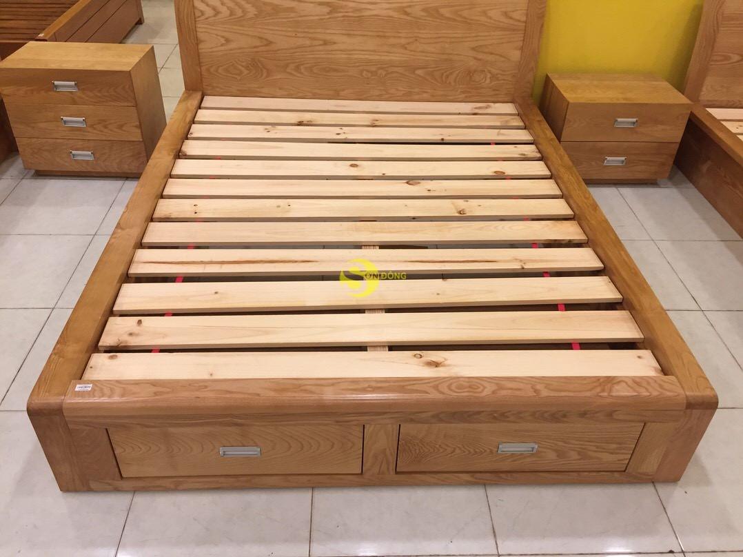 Giường ngủ gỗ sồi 1m6 – LCMGN05 (Ảnh 4)