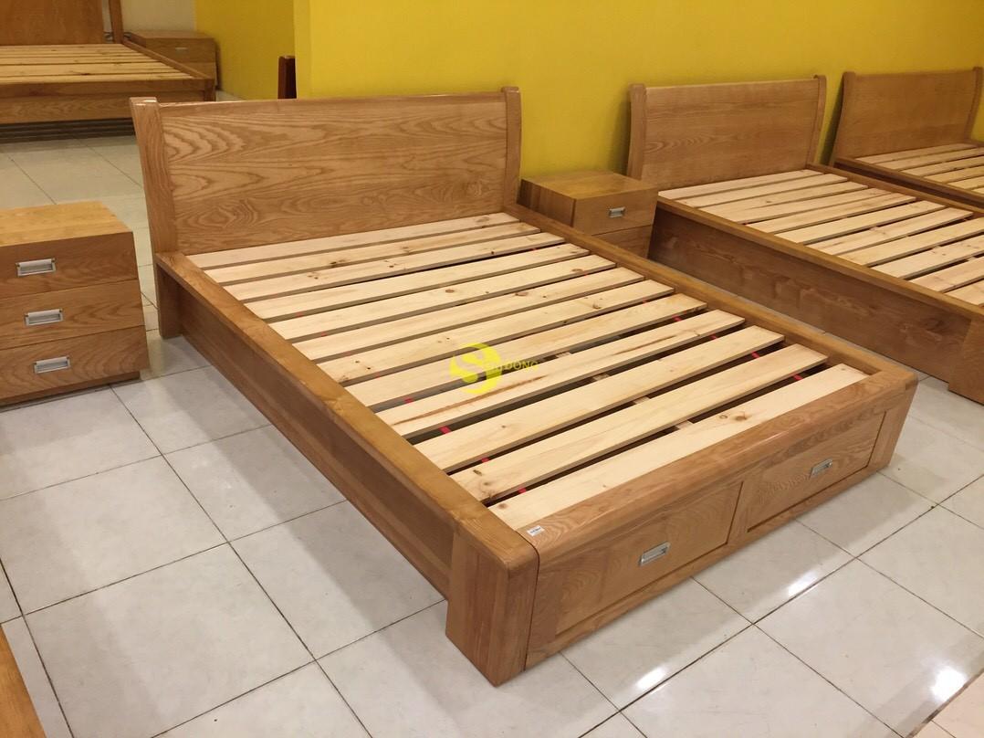Giường ngủ gỗ sồi 1m6 – LCMGN05 (Ảnh 3)
