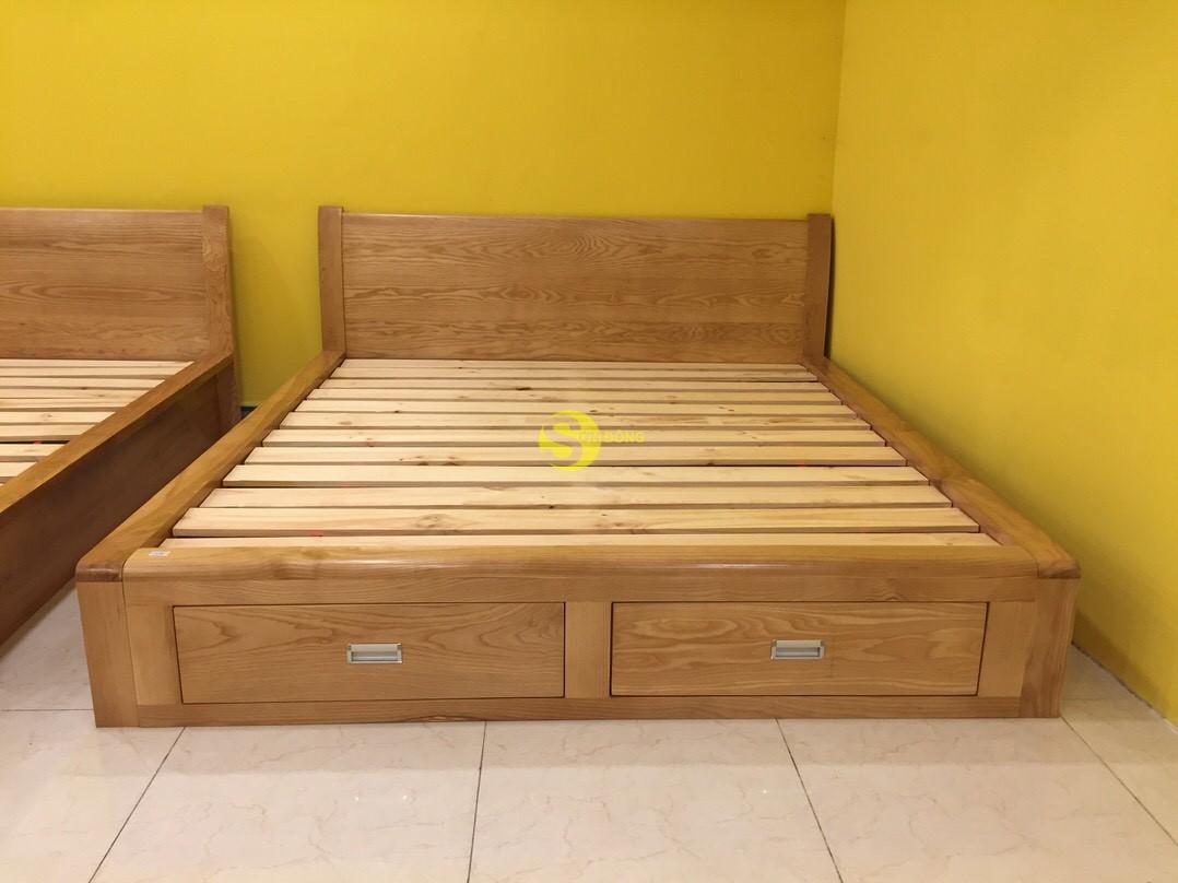 Giường ngủ gỗ sồi 1m8 – LCMGN06 (Ảnh 2)