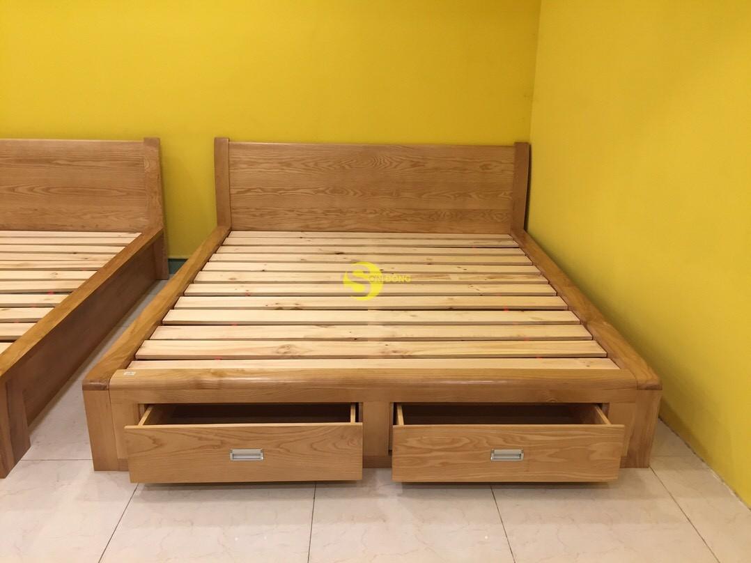 Giường ngủ gỗ sồi 1m8 – LCMGN06 (Ảnh 6)