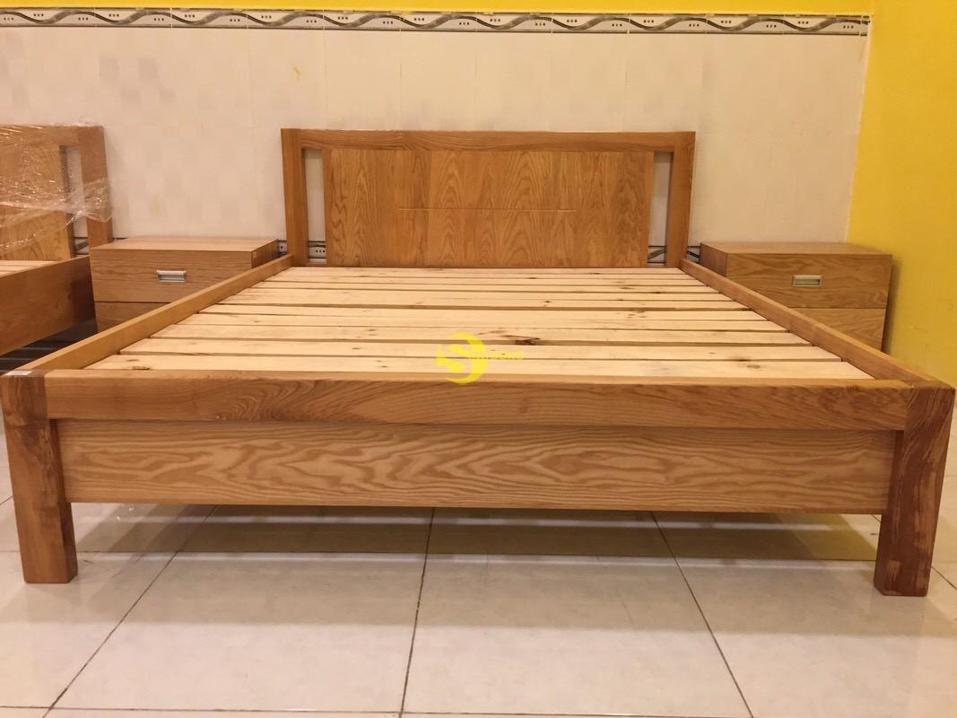 Giường ngủ gỗ sồi kiểu nhật 1m4 – LCMGN10 (Ảnh 3)