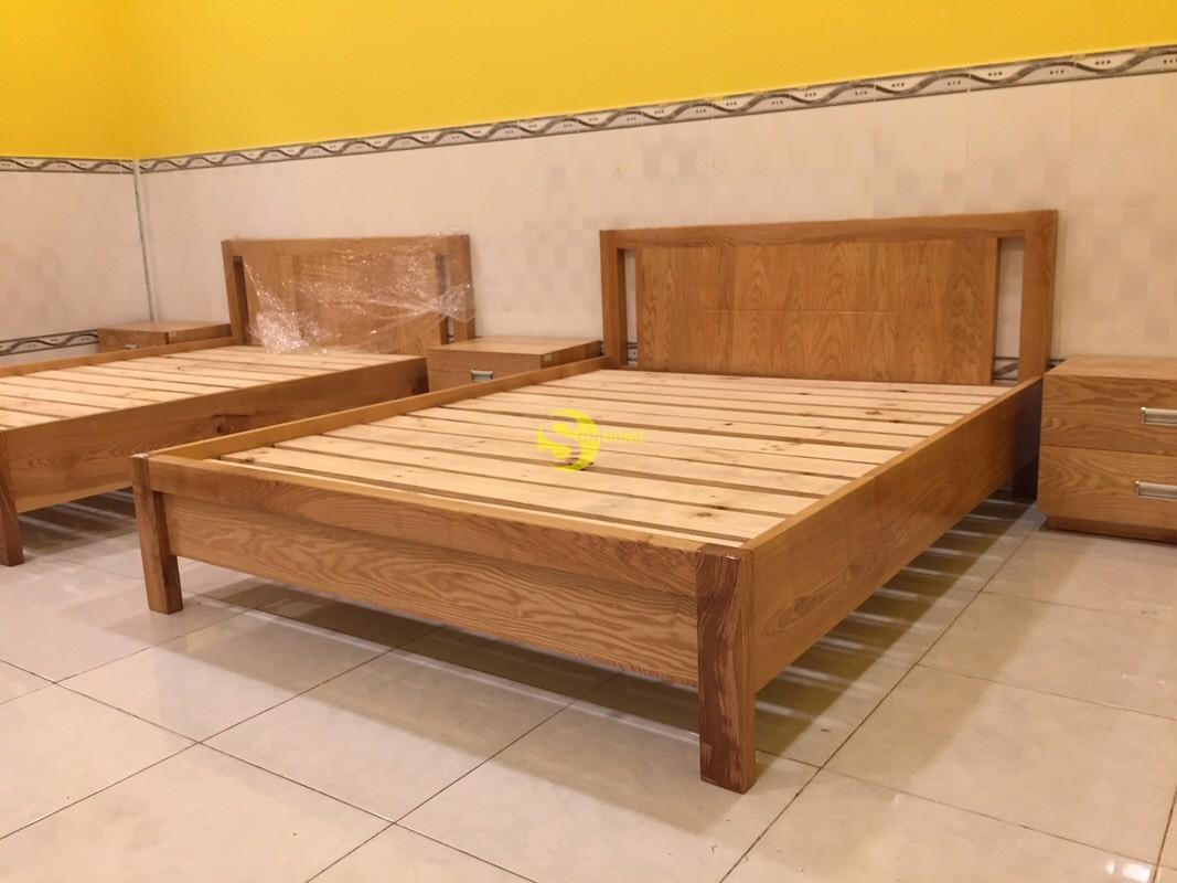 Giường ngủ gỗ sồi kiểu nhật 1m4 – LCMGN10 (Ảnh 1)