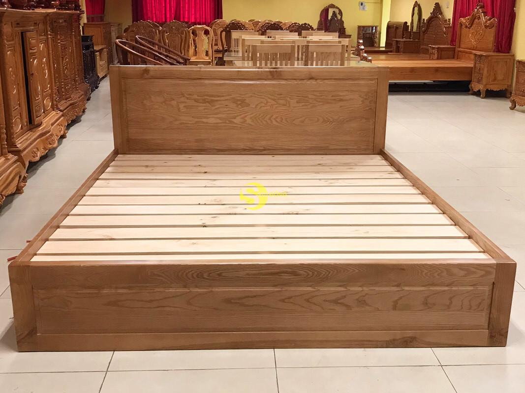 Giường ngủ gỗ sồi có hộc 1m8 – LCMGN15 (Ảnh 2)