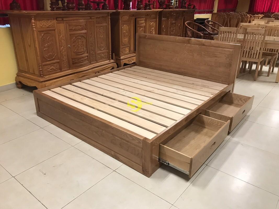 Giường ngủ gỗ sồi có hộc 1m8 – LCMGN15 (Ảnh 6)