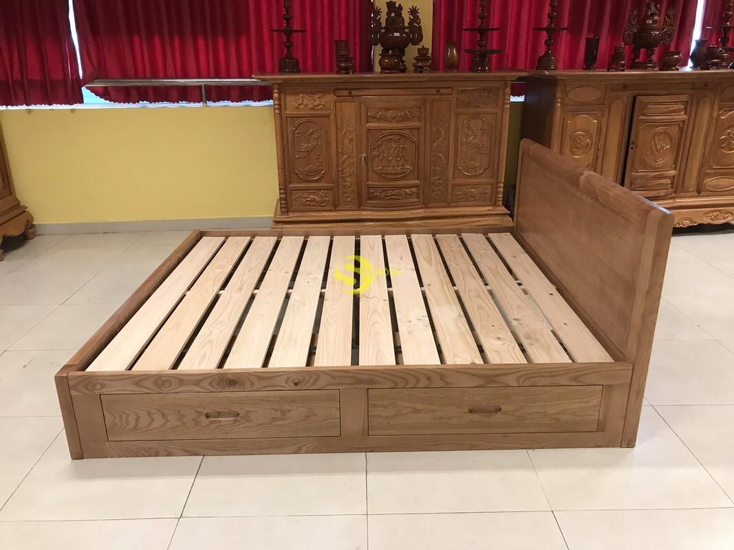 Giường ngủ gỗ sồi có hộc 1m8 – LCMGN15 (Ảnh 5)