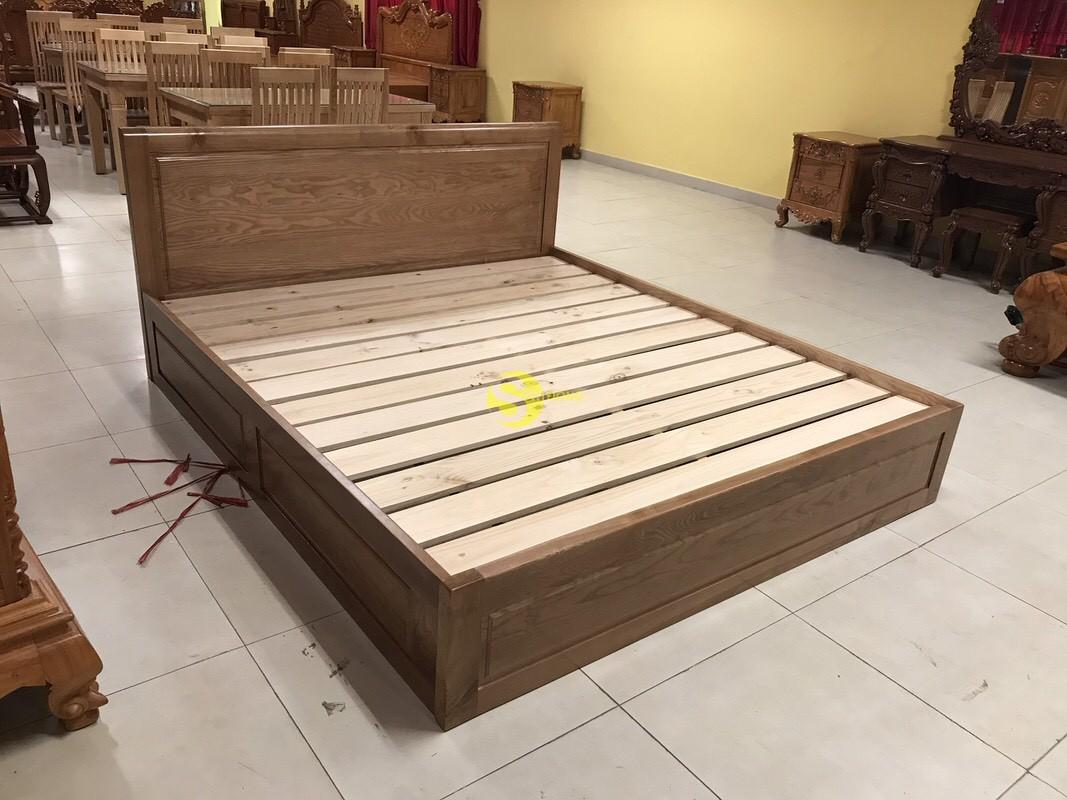 Giường ngủ gỗ sồi có hộc 1m8 – LCMGN15 (Ảnh 4)