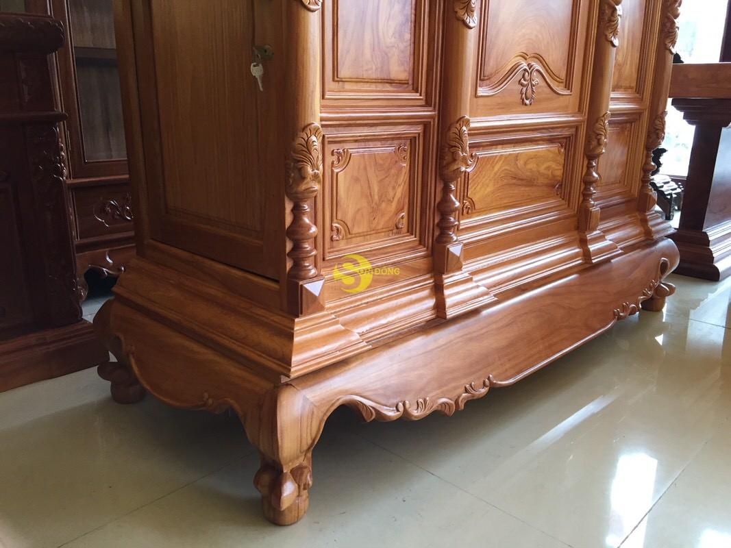 Tủ thờ gõ đỏ chơn bụng phẳng 1,53m – SD1532 (Ảnh 1)