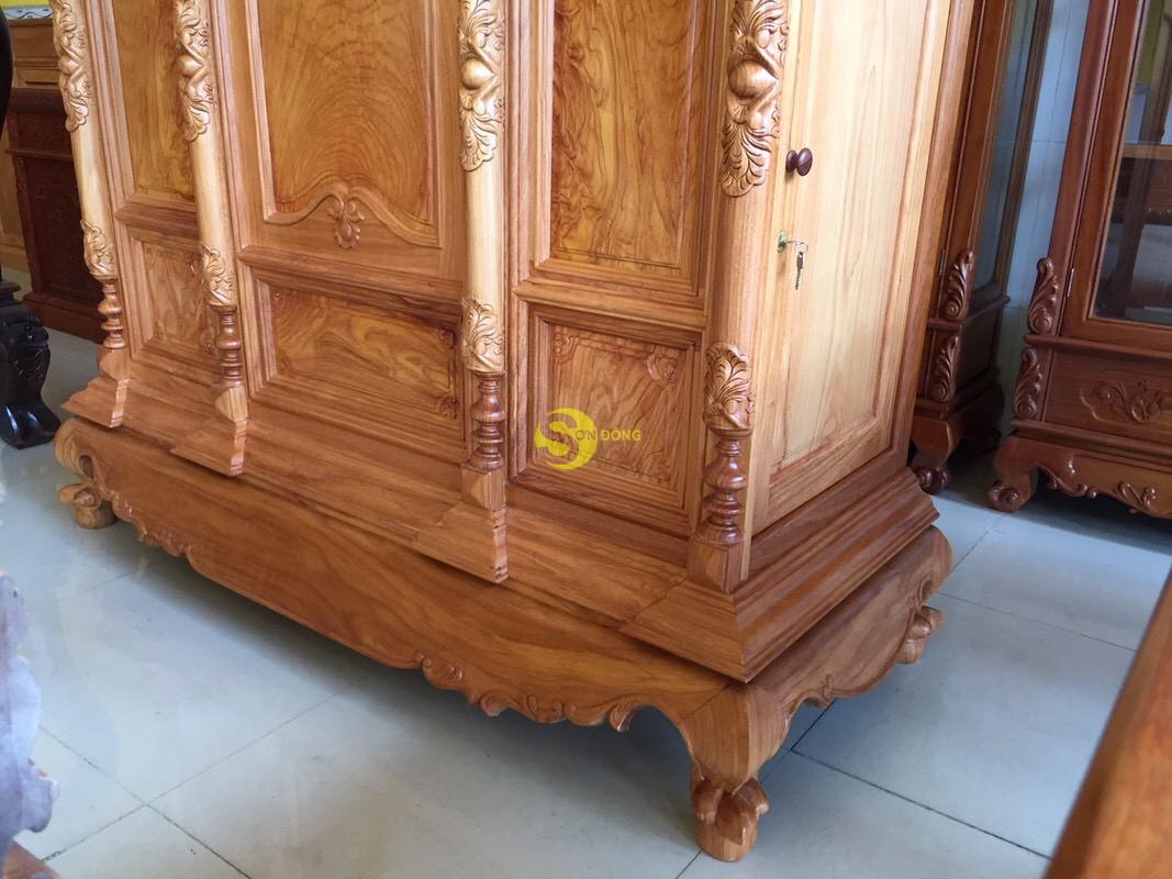 Tủ thờ gõ đỏ chơn bụng phẳng 1,53m – SD1532 (Ảnh 2)