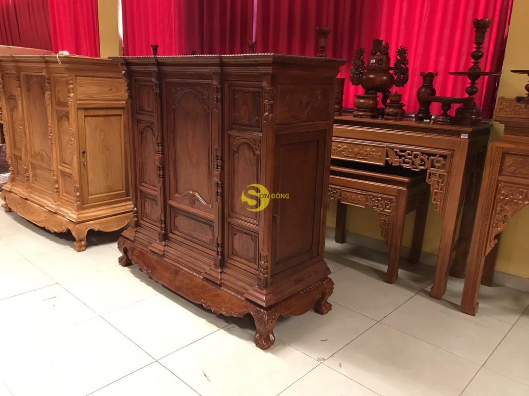 Tủ thờ cẩm lai nan phi vuông 1.53m – SD348 (Ảnh 1)