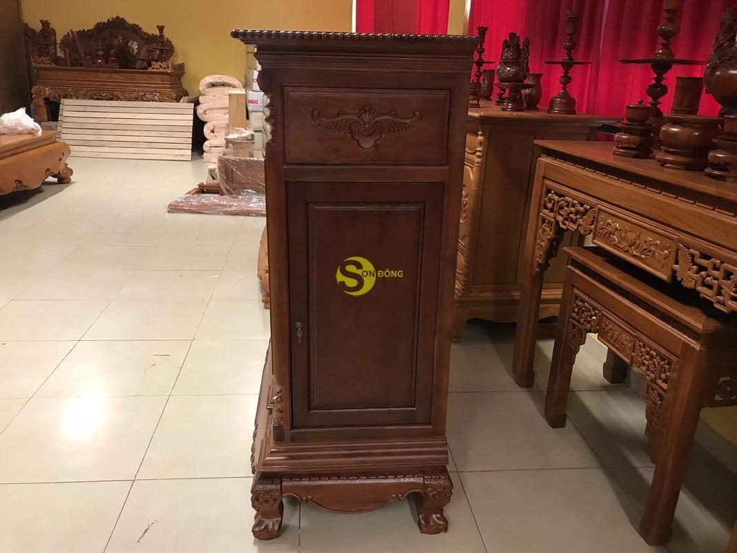 Tủ thờ cẩm lai nan phi vuông 1.53m – SD348 (Ảnh 2)