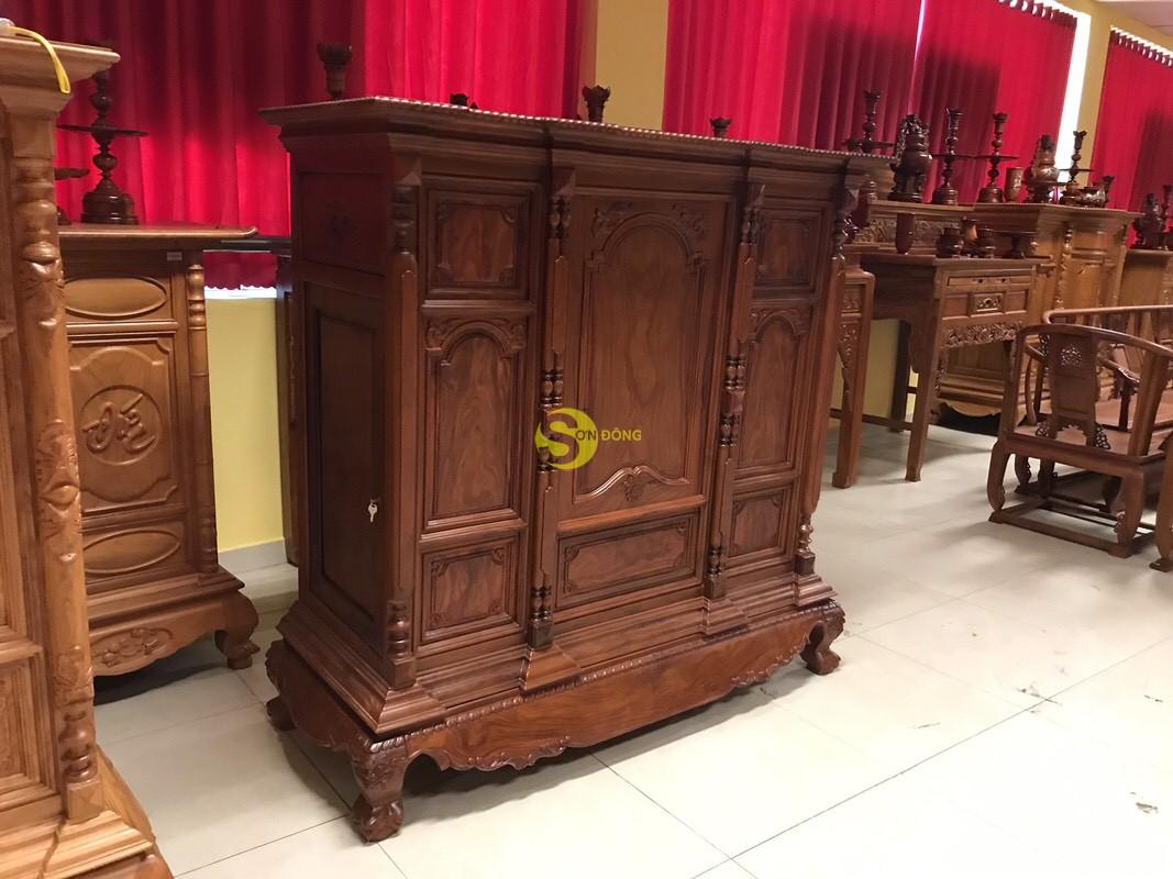 Tủ thờ cẩm lai nan phi vuông 1.53m – SD348 (Ảnh 5)