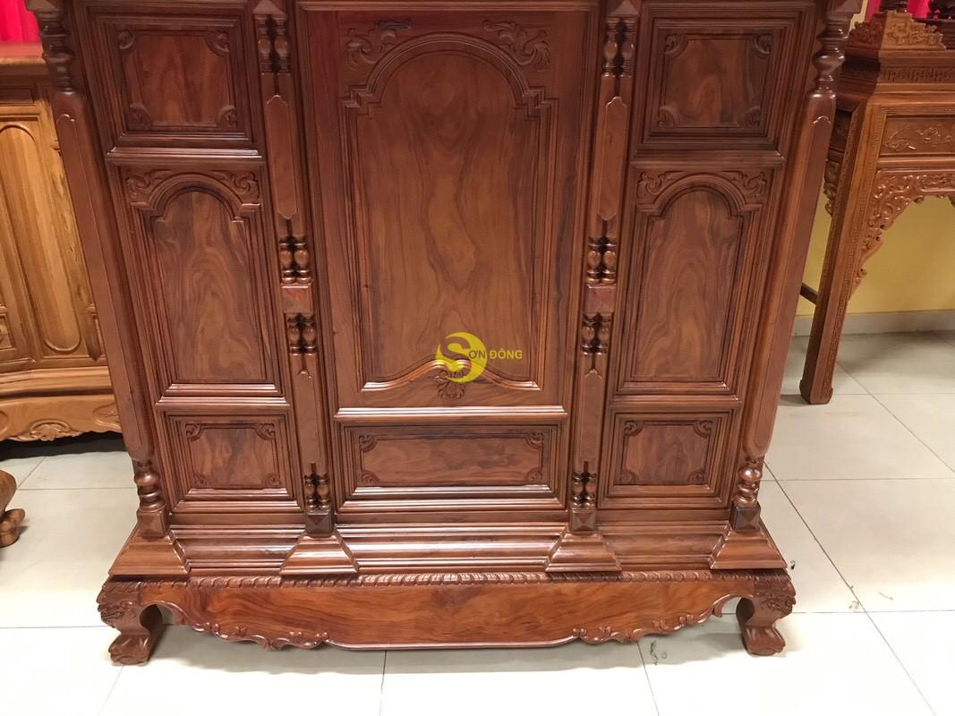 Tủ thờ cẩm lai nan phi vuông 1.53m – SD348 (Ảnh 6)