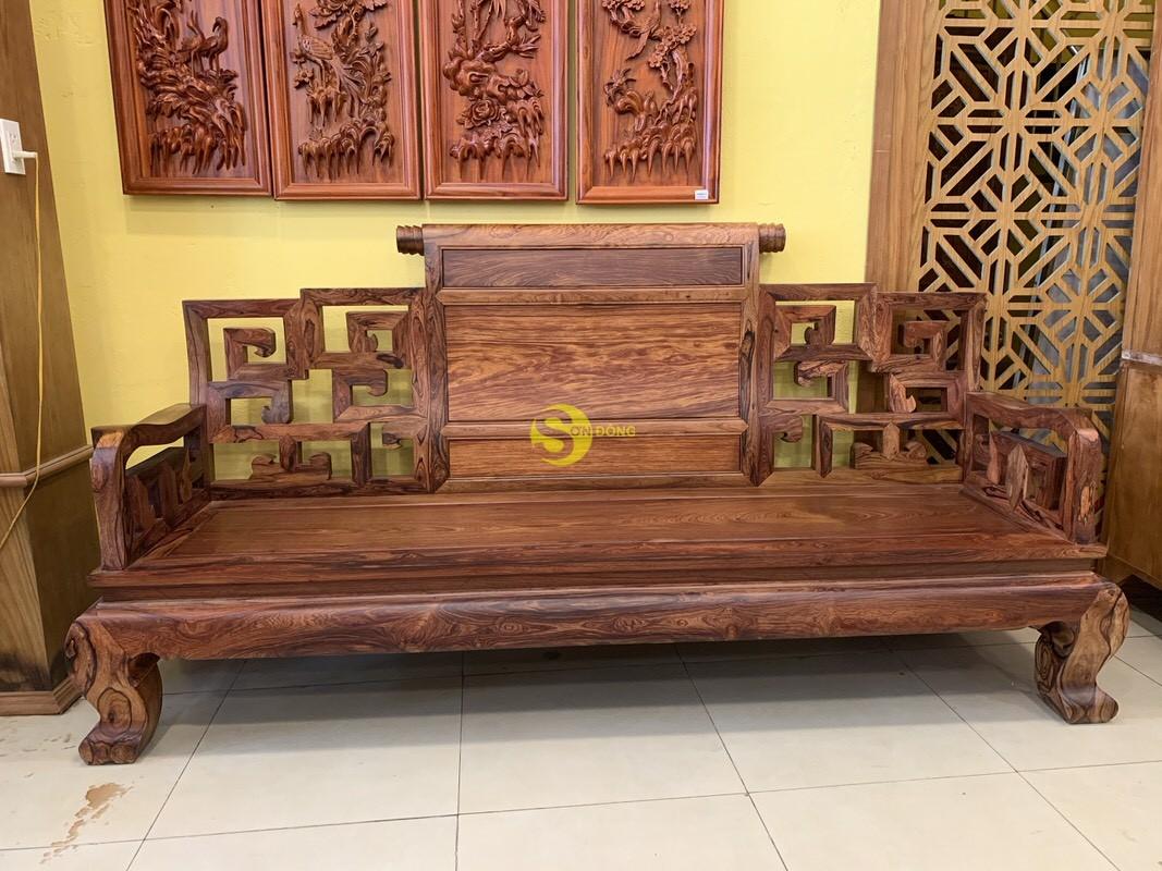 Bộ bàn ghế sơn thủy gỗ cẩm lai 10 món chân 14 – BBG1442 (Ảnh 11)