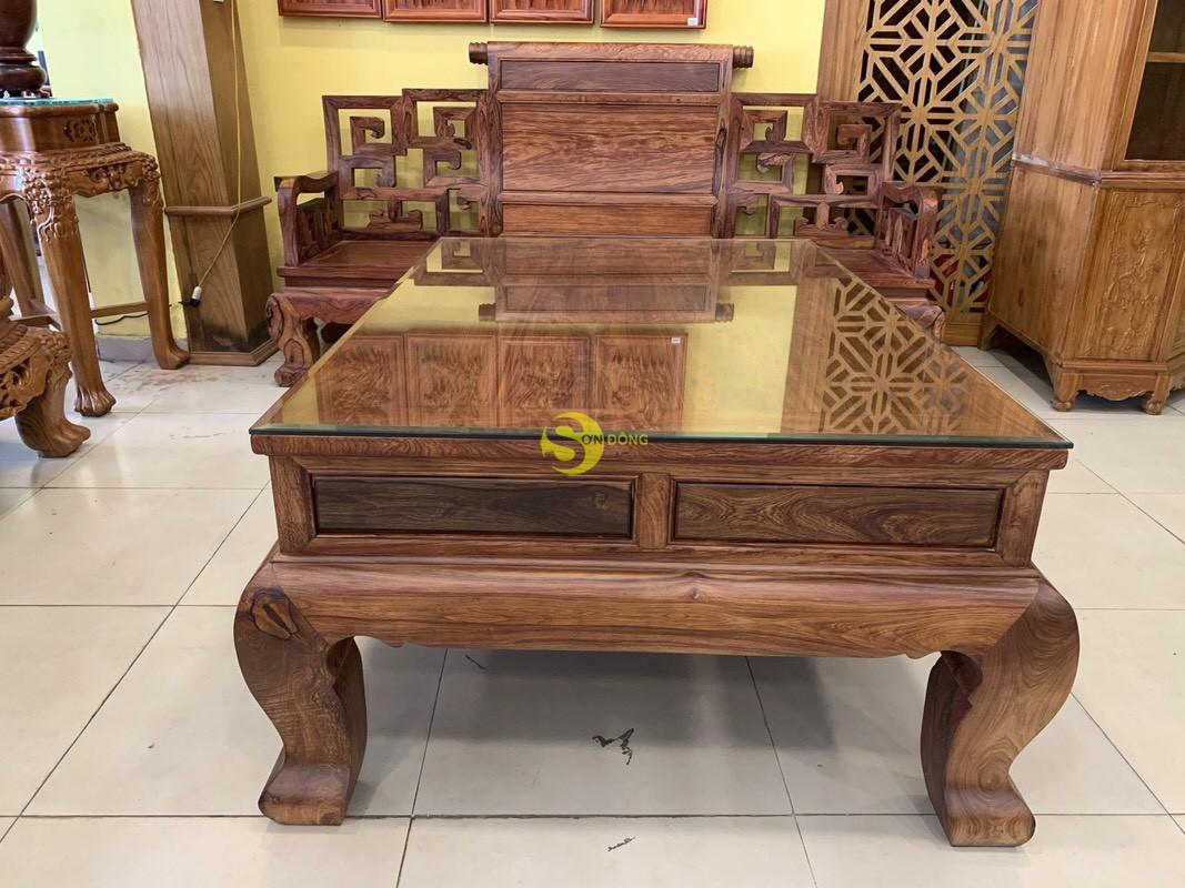 Bộ bàn ghế sơn thủy gỗ cẩm lai 10 món chân 14 – BBG1442 (Ảnh 5)
