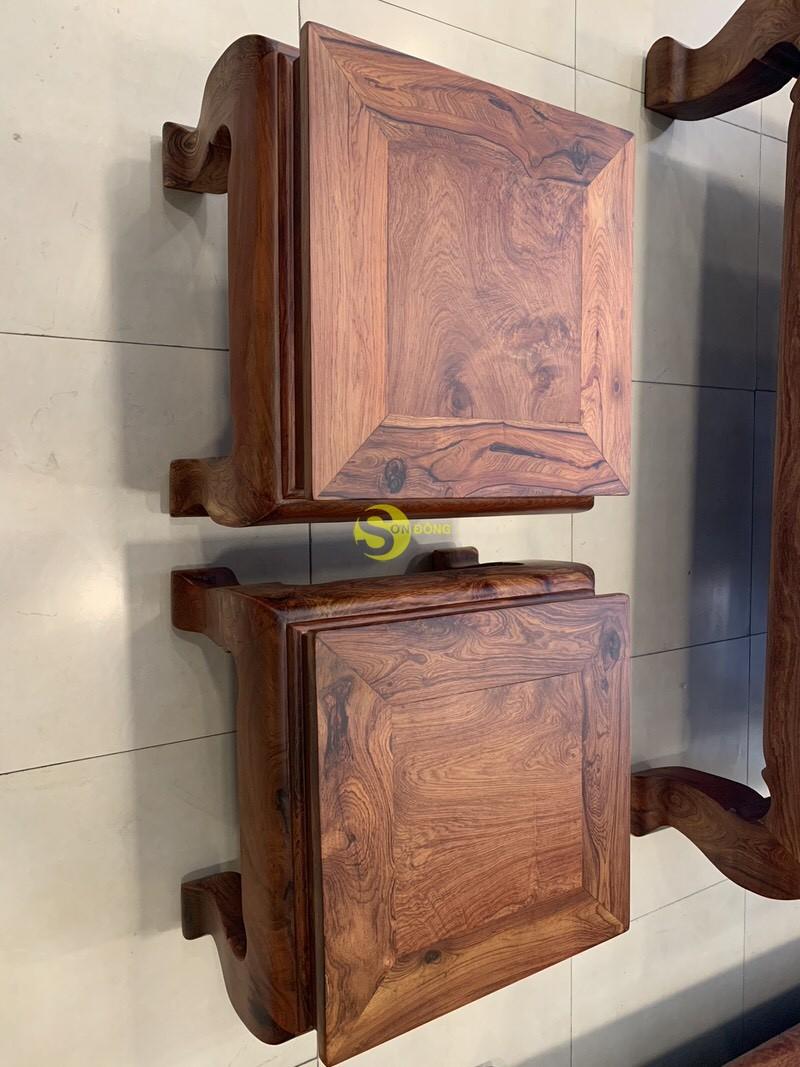 Bộ bàn ghế sơn thủy gỗ cẩm lai 10 món chân 14 – BBG1442 (Ảnh 4)