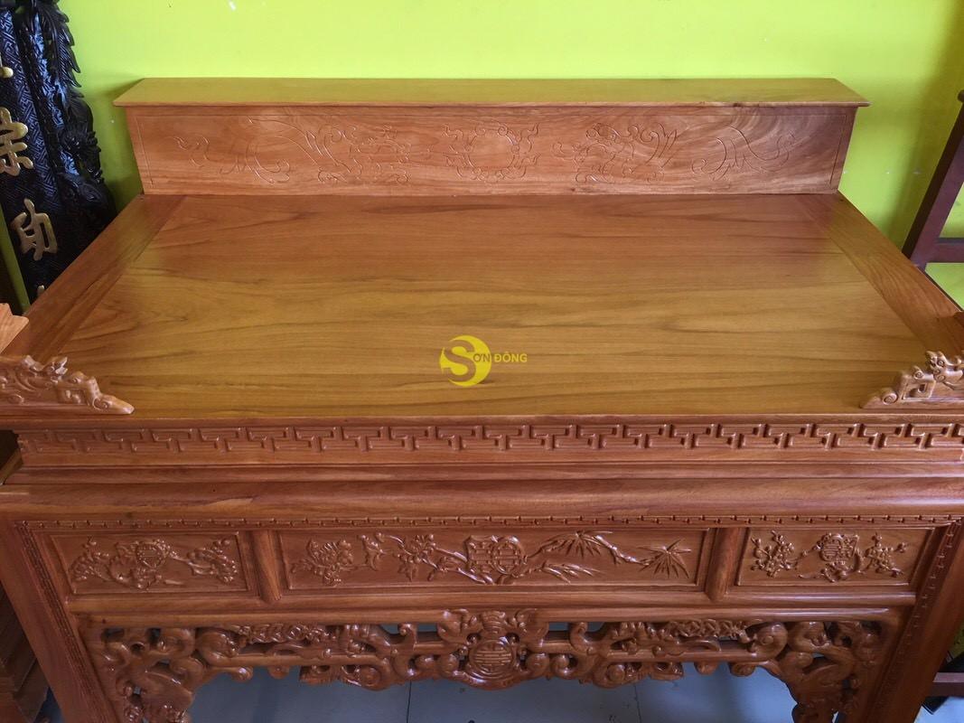 Bàn thờ ngũ phúc gỗ gõ đỏ nhị cấp 1,53m – SD95HD (Ảnh 3)