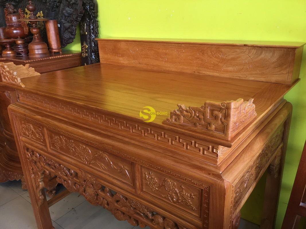 Bàn thờ ngũ phúc gỗ gõ đỏ nhị cấp 1,53m – SD95HD (Ảnh 9)