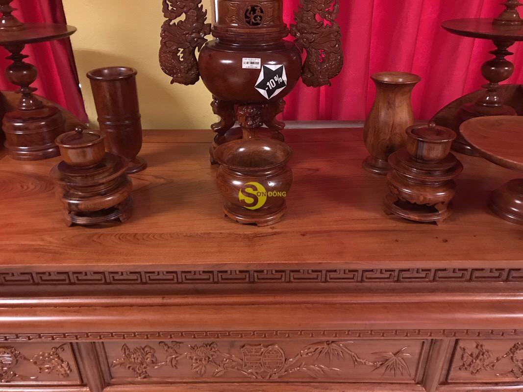 Bàn thờ ngũ phúc gỗ hương đá 1,53m – SD295 (Ảnh 3)