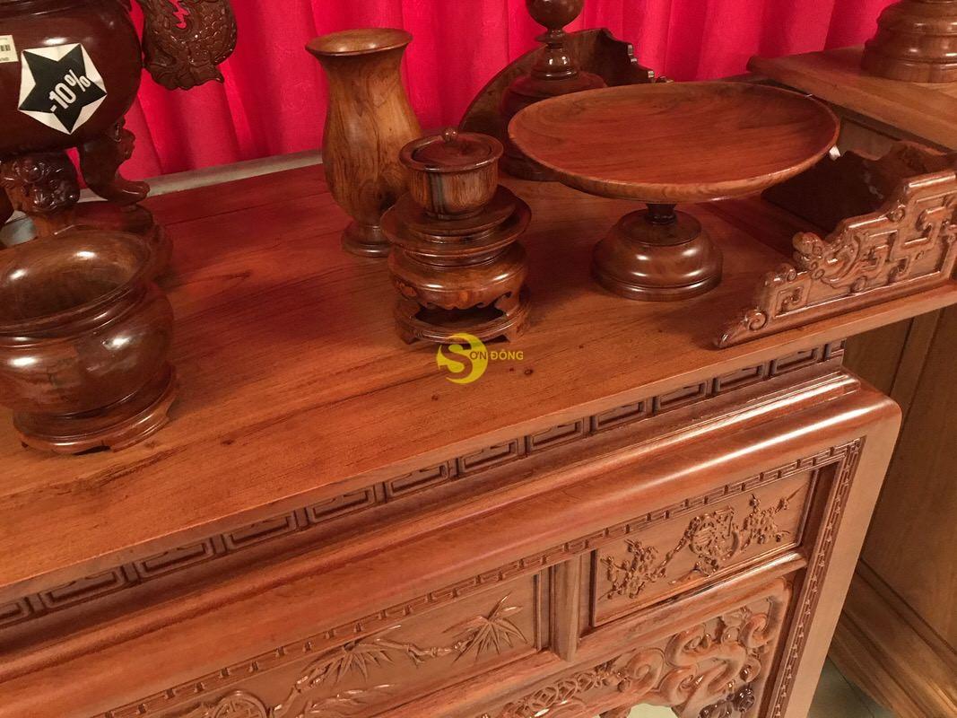 Bàn thờ ngũ phúc gỗ hương đá 1,53m – SD295 (Ảnh 1)