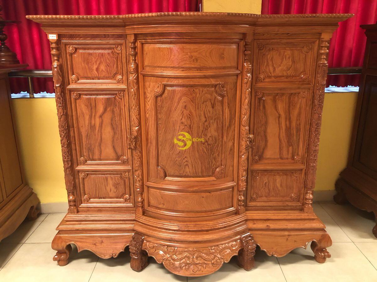 Tủ thờ hương đá trơn bụng phệ 1.76m SD35 (Ảnh 6)