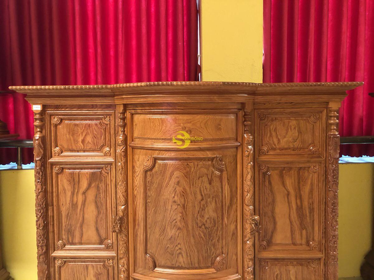Tủ thờ hương đá trơn bụng phệ 1.76m SD35 (Ảnh 5)