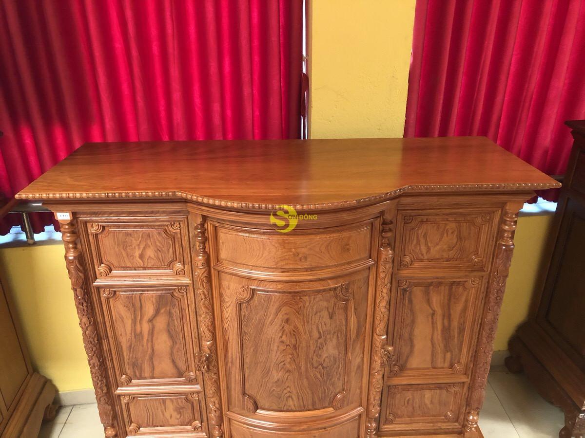 Tủ thờ hương đá trơn bụng phệ 1.76m SD35 (Ảnh 1)