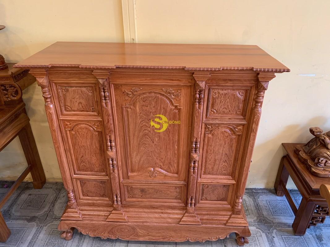 Tủ thờ hương đá trơn vuông 1.53m SD36 (Ảnh 5)