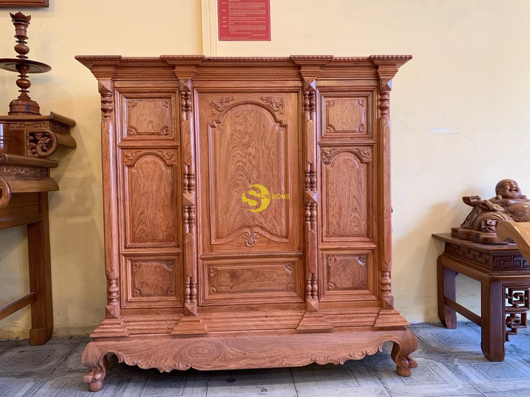 Tủ thờ hương đá trơn vuông 1.53m SD36 (Ảnh 4)