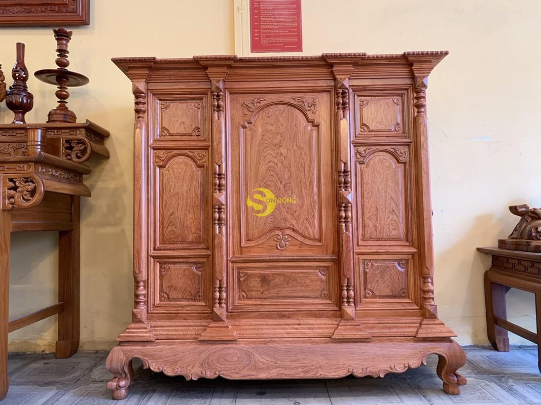 Tủ thờ hương đá trơn vuông 1.53m SD36 (Ảnh 3)