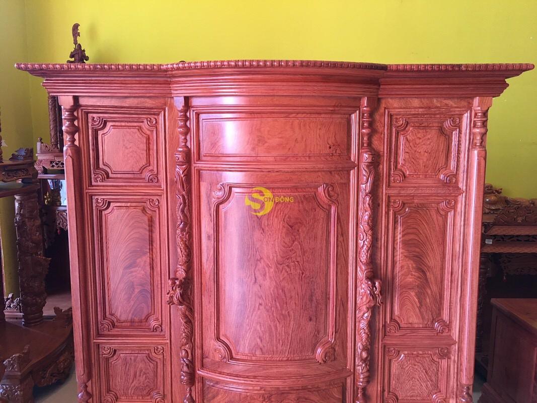Tủ thờ hương đá trơn bụng phệ 1.53m SD324 (Ảnh 9)