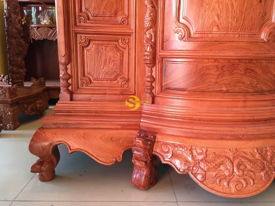 Tủ thờ hương đá trơn bụng phệ 1.53m SD324 (Ảnh 8)