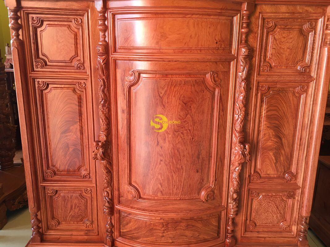 Tủ thờ hương đá trơn bụng phệ 1.53m SD324 (Ảnh 6)