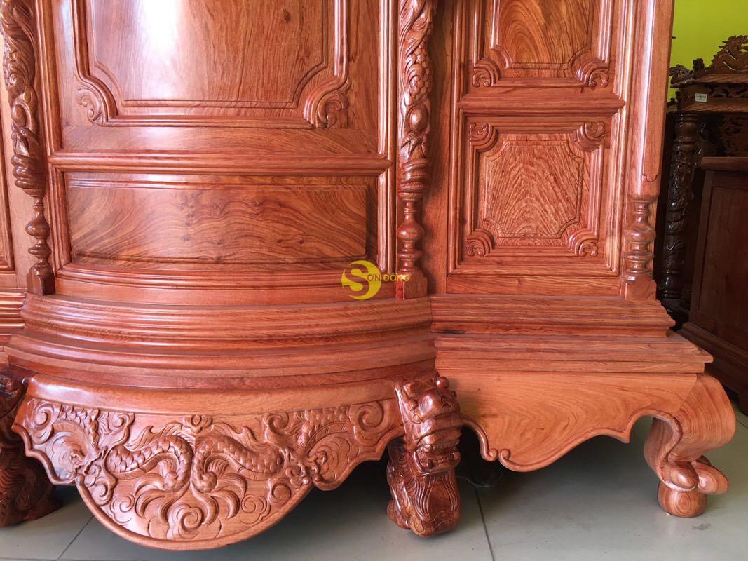 Tủ thờ hương đá trơn bụng phệ 1.53m SD324 (Ảnh 5)