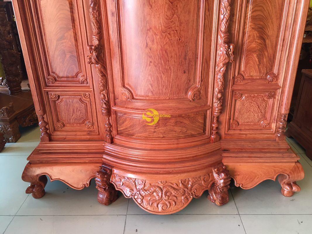 Tủ thờ hương đá trơn bụng phệ 1.53m SD324 (Ảnh 2)