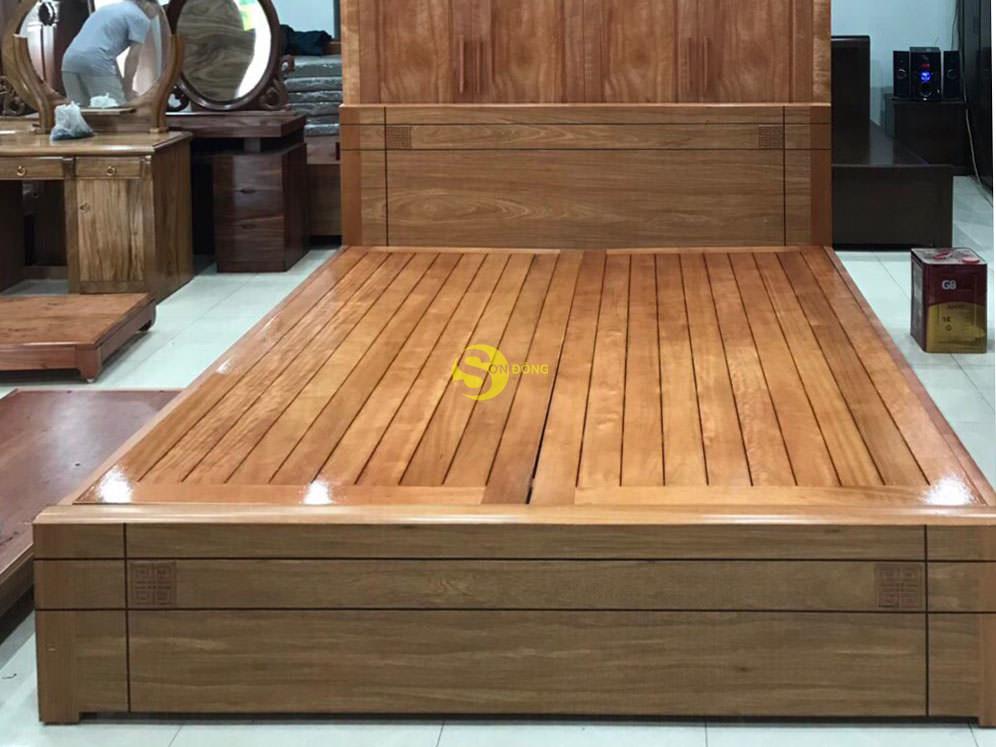 Giường ngủ kiểu nhật gỗ đinh hương 1m8 giá rẻ (Ảnh 4)