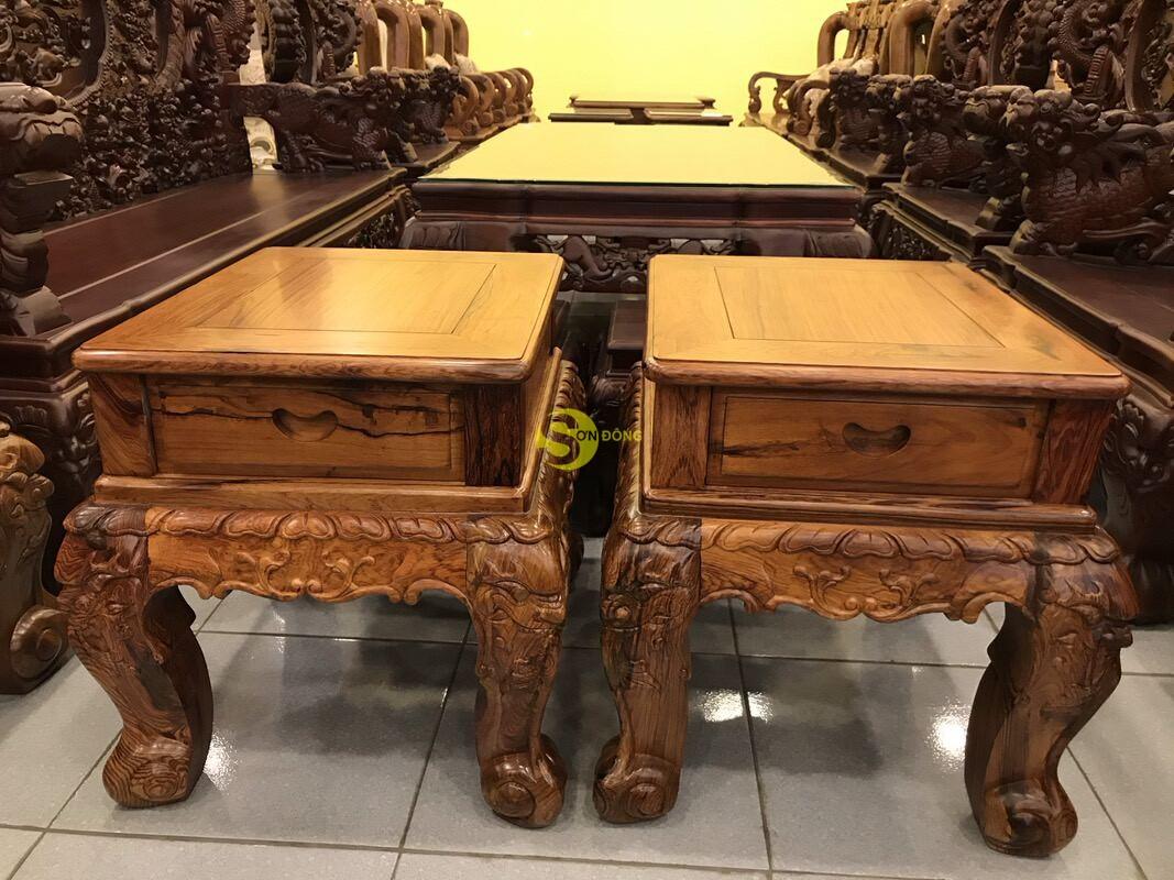 Bộ bàn ghế nghê đỉnh gỗ cẩm lai xịn 10 món tay 14 BBG442 (Ảnh 7)