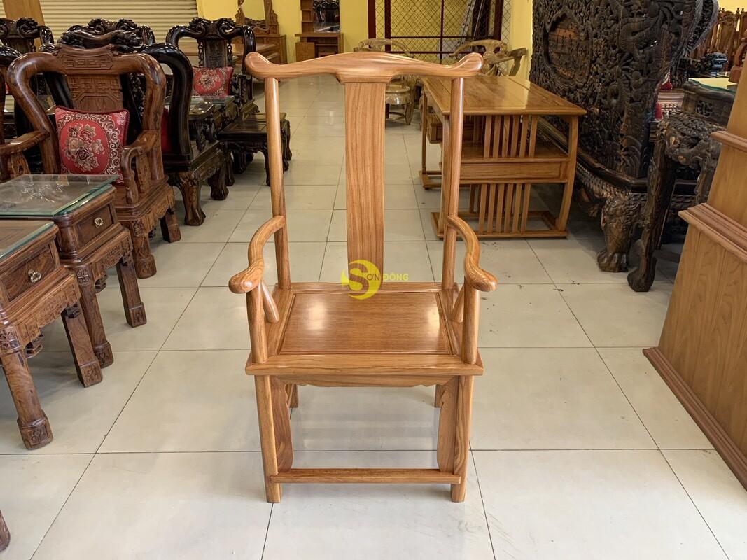 Bộ bàn ghế làm việc khổng minh gỗ gõ đỏ 1.53m BLV09 (Ảnh 1)