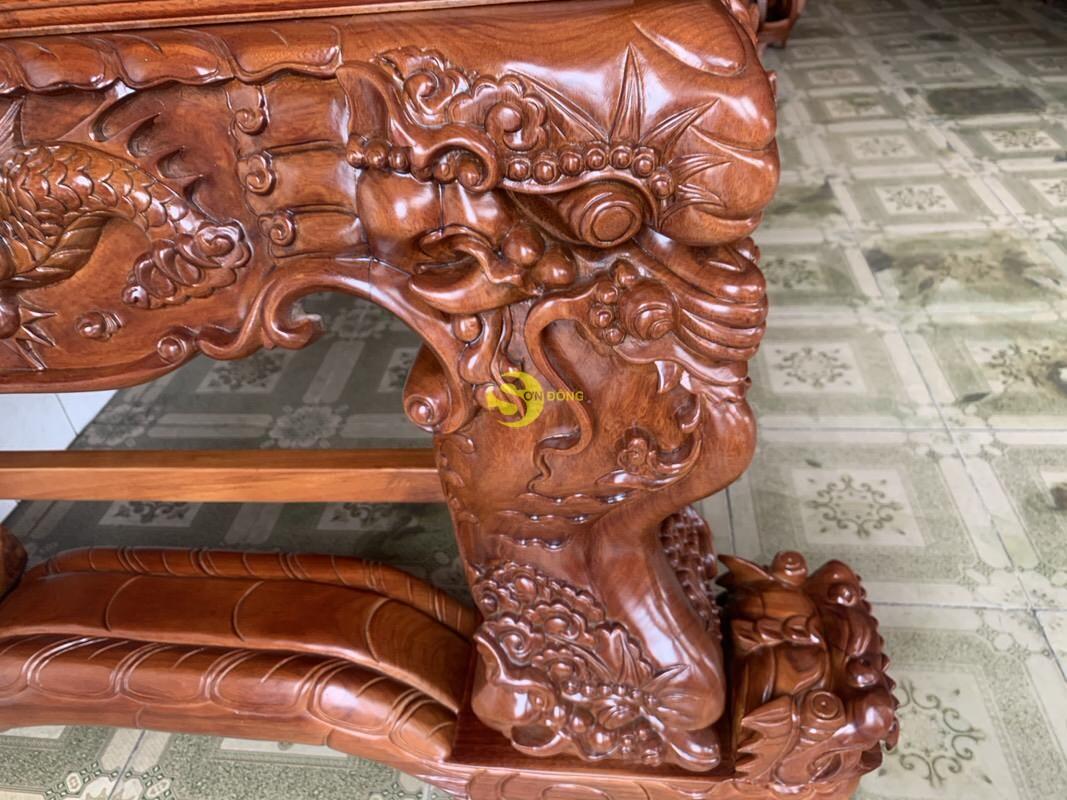 Sập thờ tứ linh gỗ gõ đỏ siêu vip chân 26 SD126 (Ảnh 2)